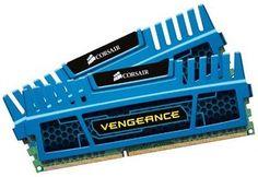 Corsair CMZ8GX3M2A1600C9B Vengeance 8GB (2x4GB) DDR3 1600 Mhz CL9 XMP Performance Desktop Memory Blau