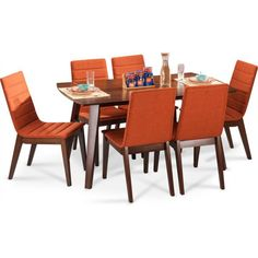 Are u Looking for a 6 Seated Dining Table Set, Well Gorevizon is giving Cheapest Discount Price on this Awesome Quality Dining Set Dining Table Set Designs, Wood Furniture, Outdoor Furniture Sets, Glass Chair, Dining Table Online, Solid Wood Table, Walnut Table, Table Dimensions