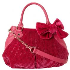 Betsey Johnson Crystal Palace Satchel-Berry - Style yourself for any season with the Betsey JohnsonCrystal Palace Satchel. Velvet exterior ...