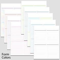 Checkbook Register    X  L  Printable Forms