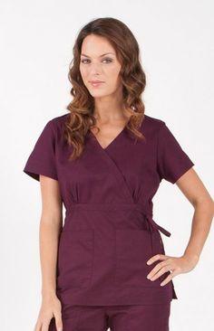 Merlot, Katelyn Top | #nursing #scrubs | #nurse #fashion | #medapparel | #style #koiscrubs
