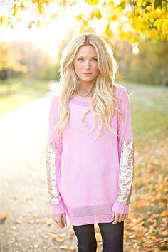 Glitter Detail Sweater!