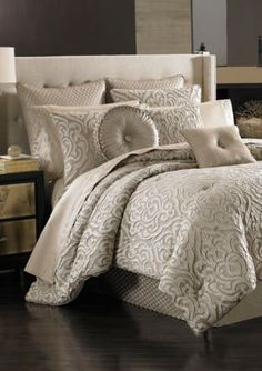 esy pintuck reversible navy blue 8piece queen comforter set home the ou0027jays and home depot