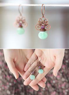 wireworked earrings