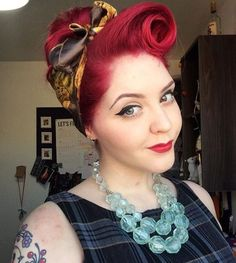 trendy how to wear a bandana in your hair tutorial pin up Bandana Hairstyles, Retro Hairstyles, Wedding Hairstyles, Gorgeous Hairstyles, Hairstyle Ideas, Teenage Hairstyles, Homecoming Hairstyles, Party Hairstyles, Hair Ideas