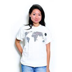 American Apparel UDHR Map T-shirt short sleeve : Unisex