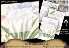 Agapanthus Large Blooms 8in Envelope Mini Kit on Craftsuprint - Add To Basket!