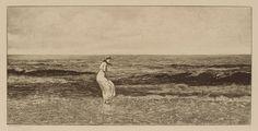 "Max Klinger ""At the seaside""(1881)"