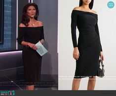 Black Off Shoulder Dress, Off The Shoulder, Big Brother Style, Julie Chen, Jason Wu, Fashion Outfits, Clothes, Dresses, Outfits