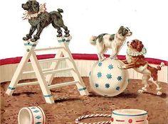 Glanzbilder - Victorian Die Cut - Victorian Scrap - Tube Victorienne - Glansbilleder - Plaatjes : Zirkus - circus - cirque