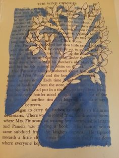 DIY painting on old book pages