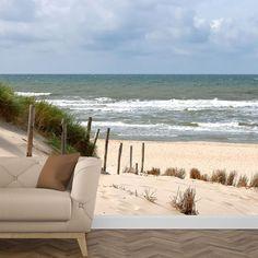Geen strandweer? Maakt niet uit hoor.  Je gaat hier gewoon lekker middenin  zitten en dan komt het strandgevoel  vanzelf. #strand #behang #fotobehang  #hollands #kust #zee #behangen  #vakantiegevoel #vakantie #zand