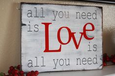 All you need is Love is all you need... Excited to try this easy project