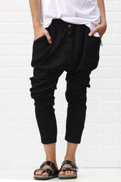 jogger pants black | ascot + hart