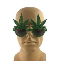 f46bd7270098 Weed Leaf Pot 420 Costume Sunglasses Marijuana Novelty Glasses