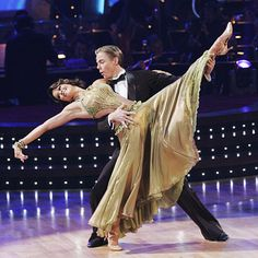 Derek Hough & Brooke Burke   -  Dancing with the Stars - Season 7 -  season champs & Brooke soon became co-host of the show