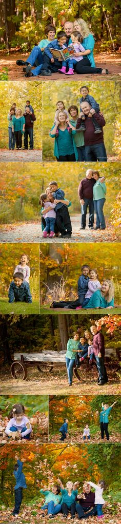 Irina's Family photoshoot. Every story should be saved for our memory! Mom with kids + grandparents: another bright fall photo shoot.