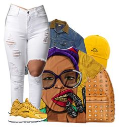 """Tbam - Aquafina"" by tanishacain ❤ liked on Polyvore featuring MCM and NIKE"