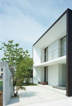 House Front Design, Box Houses, House Landscape, Facade House, Little Houses, Exterior Design, Modern Architecture, Building A House, House Plans