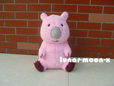 "14"" Cute High Earth Defense Club Love! Pink Wombat Cosplay Plush Doll"