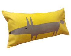 Scion Mr Fox Yellow Bolster Cushion Cover