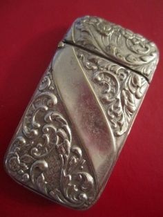 Collectible Vintage Victorian Vesta Match Safe Holder Case Filigree L   GoldenDaysGoneBy - Collectibles on ArtFire
