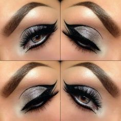 Sparkly Grey & Black make-up