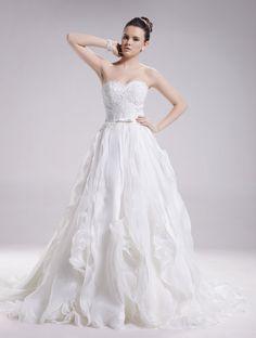 Lace wedding dress strapless bridal dress CORA by WanluBridal, $1460.00