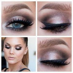 Neutral smokey (for the bridesmaid at the wedding  Schoenfeld Schoenfeld Friend  ) love this!