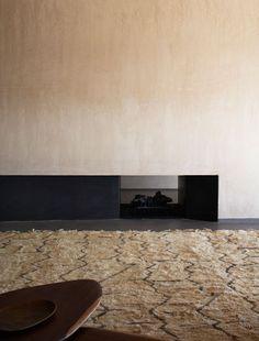 Studio KO - Villa K - Marrakech - ©Dan Glaser > Living room's Fireplace