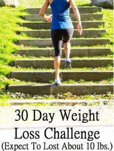 30 Day weight loss challenge (Expect to lose about 10 pounds or more in the first week), and if you follow the tips in the video, you should be losing 30 pounds in a 30 days easily