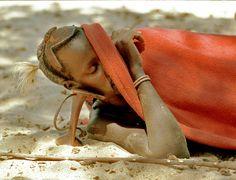 How Kenya's Turkana Men Sleep by Victor Englebert