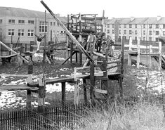 junk playgrounds   Children's playground 'The Venchie' - Craigmillar, in winter - which ...