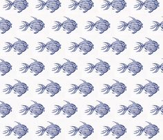 Blue Fish fabric by nancy_von_bea on Spoonflower - custom fabric