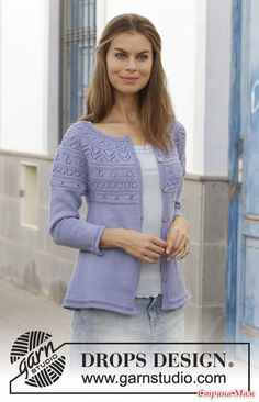 Free knitting patterns and crochet patterns by DROPS Design Drops Patterns, Lace Patterns, Drops Design, Easy Knitting Patterns, Free Knitting, Cardigans For Women, Knit Cardigan, Knit Crochet
