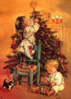 "Photo from album ""Lisi Martin Christmas Cards"" on Yandex. Vintage Christmas Images, Old Fashioned Christmas, Christmas Scenes, Christmas Past, Christmas Pictures, Christmas Greetings, Christmas Oranges, Spanish Christmas, Christmas Kitchen"