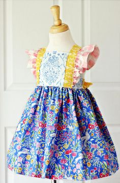 Informations About Bellevue Dress PDF Sewing Pattern, including sizes 12 months - 14 years, Girls Dr Little Girl Dress Patterns, Simple Dress Pattern, Baby Girl Dress Patterns, Baby Clothes Patterns, Dress Sewing Patterns, Little Girl Dresses, Clothing Patterns, Girls Dresses, Baby Dresses
