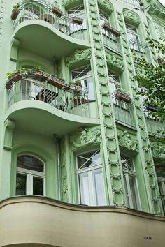 Art deco balcony, Berlin, Germany