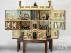 Antique Dollhouse, Dollhouse Dolls, Antique Dolls, Vintage Dolls, Dollhouse Miniatures, Modern Dollhouse, Dollhouse Shelf, Dollhouse Design, Dollhouse Kits