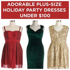 21 Adorable Plus-Size Holiday Party Dresses Under $100