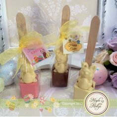 Easter Bunny Hot Chocolate Stirrer - click to enlarge