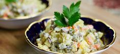 Russian Salad also known as Olivier is a staple salad in many families. An excellent twist to your potato salad. Step by step photos. Russian Salad Recipe, Russian Potato Salad, Russian Recipes, Russian Foods, Chicken Potato Salad, Olivier Salad, Crema Fresca, Easy Salads, Vegetable Salad