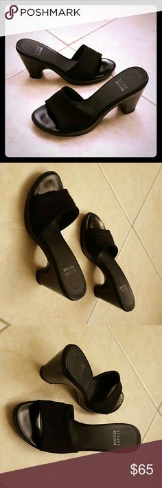 Stuart Weitzman shoes Wedge heel slip on sandles. Made in Spain.Great condition. Stuart Weitzman Shoes Mules & Clogs