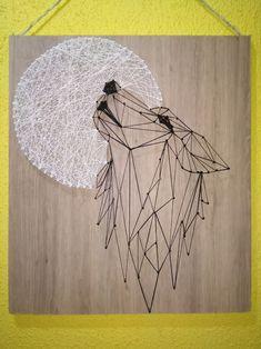 String Wall Art, Nail String Art, Diy Wall Art, Diy Art, String Art Templates, String Art Patterns, Hilograma Ideas, Diy Resin Art, Wool Art
