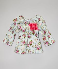 Look at this Green Vintage Paris Floral Top - Toddler & Girls on #zulily today!