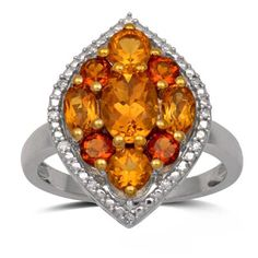 Bold Citrine and Diamond Ring