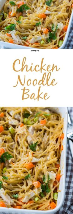 Chicken Noodle Bake--a twist on the comforting classic chicken noodle soup. Clean Eating Recipes, Healthy Eating, Cooking Recipes, Healthy Recipes, Skinny Recipes, Protein Recipes, Eating Clean, Healthy Sweets, Delicious Recipes