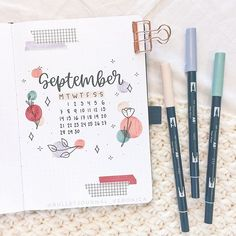 Veronica ♡ sur Instagram: September cover page!✨ • My theme this month is florals with circular color blobs (lol it sounds so funny, but I'm so excited about it…