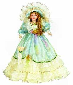 Victorian Collection Genuine Porcelain Doll | Victorian Porcelain Doll-Unique doll-Porcelain Victorian Doll-Vida