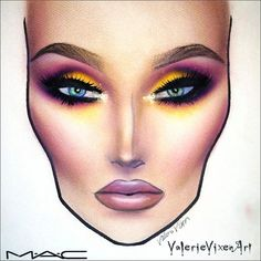 "Valerie Vixen ""So Enchanting"" face chart"